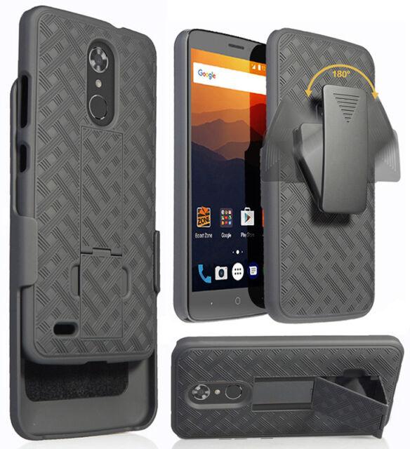 finest selection 1d5d2 85607 Black Kickstand Case Cover + Belt Clip Holster for ZTE Max Duo 4G LTE  (Z963VL)