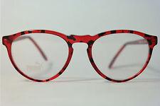 Vintage Puma P160 Col. 526 52[]18 145 Rot Schwarz oval Brillengestell Brille NOS