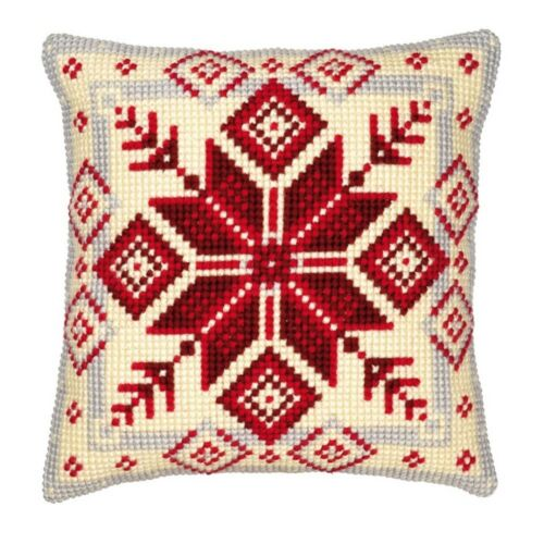 Cross Stitch Cushion Front Kit Vervaco 1200//115 Nordic Snowflake