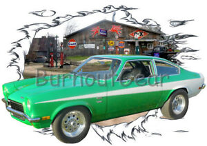 Details About 1973 Green Chevy Vega Custom Hot Rod Garage T Shirt 73 Muscle Car Tee S