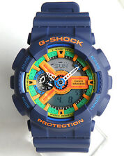 Imported Casio G-Shock, GA110FC Full Blue  Rubber Strap  Sports Watch For Men