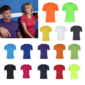 AWDis-Just-Cool-Smooth-T-Shirt-Men-039-s-Polyester-gym-summer-sports-running-tee