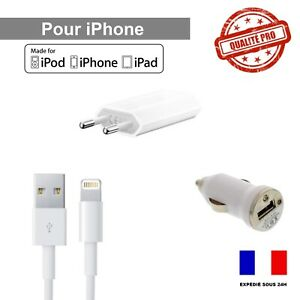 chargeur+ cable usb voiture iphone xr