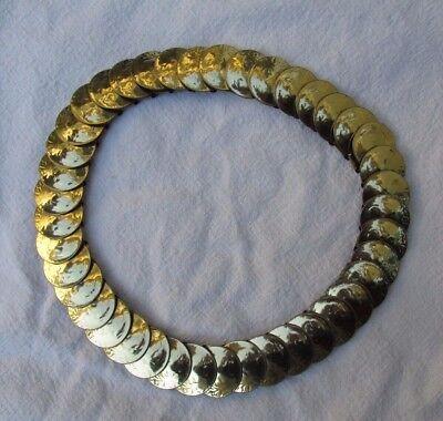 Gold Tone Coin Elastic Belt Vintage c 1950 - 1960 Stretch