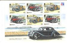 Jersey-Cars-min sheet/pane-Riley-Ford Anglia-Vintage cars mnh