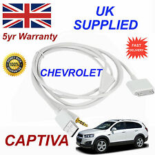 CHEVROLET CAPTIVA OX0467904 3GS 4 4S iPhone iPod USB & Aux Audio Cable white