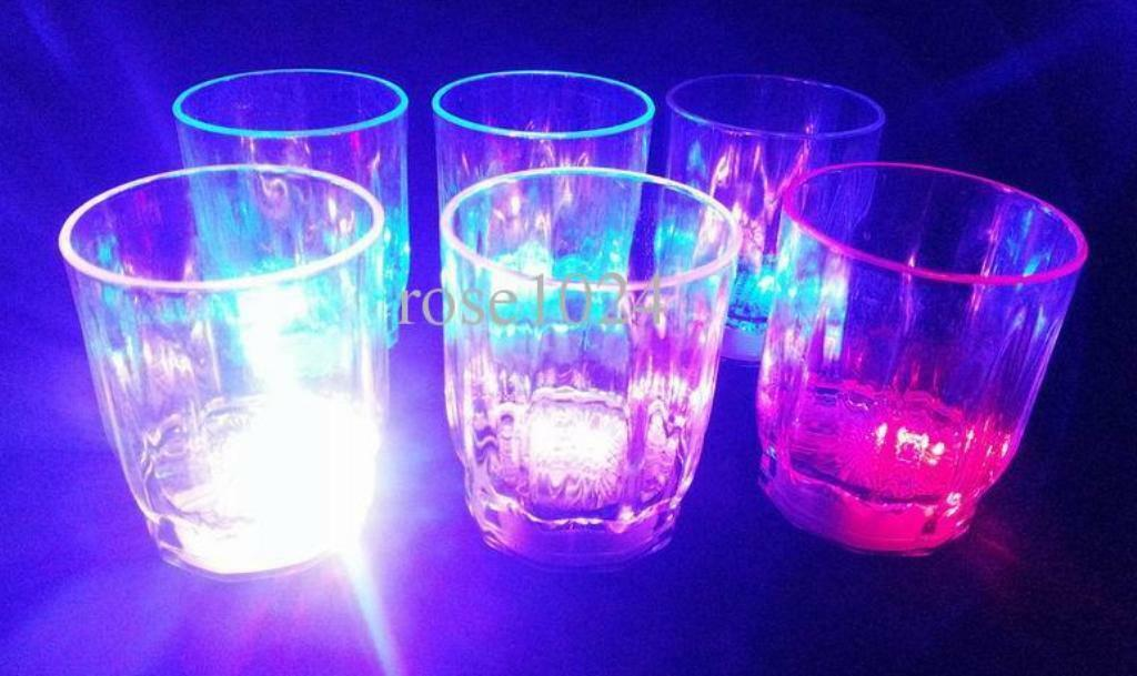 96 pcs Multi color Flashing LED Light up Fancy Shot Glasses Barware Party Supply