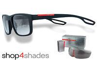 Prada Sport Unisex Sunglasses Black Rubber_grey Gradient 03rs Dg00a7