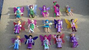 Détails sur playmobil 15 personnages fées princesse chateau féerique