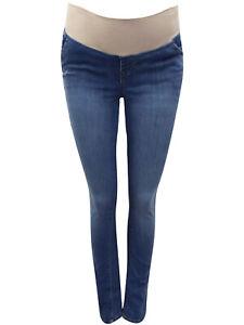 Women-Gap-OLD-NAVY-Maternity-Under-Bump-Bootcut-Jeans-Blue-Sizes-UK-8