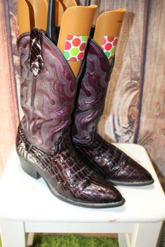 occidentali 5 uomo Burgundy 8 Croc Print Stivali Leather illeggibile da Synthetic fwXxx84PqH