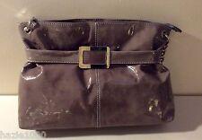 Fab Harrie Hendriks ladies taupe patent shoulder bag, RRP £165, BNWOT