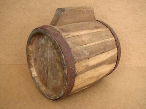 Old-Antique-Primitive-Wooden-Wood-Mold-for-Barrel-Keg-Vessel-Cask-Flask-Rustic