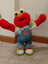 Talking Moving Elmo Doll Sesame Street Large Red Fur Electronic Sounds Overalls