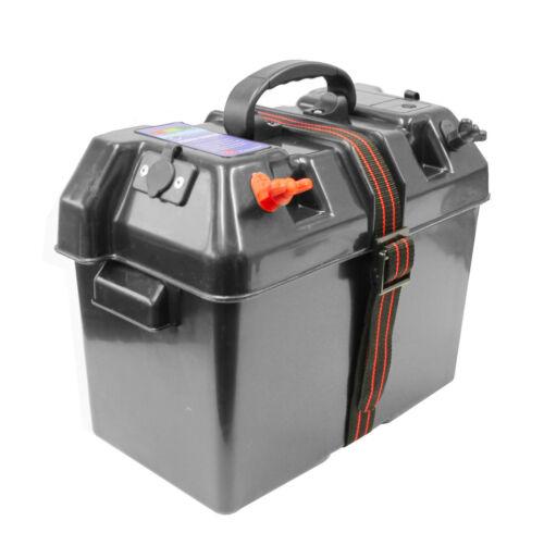 Anschlüsse Batteriebox Batteriekasten mit Batterieanzeige Zigarettenanzünder