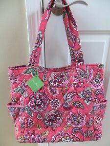 Vera-Bradley-Pleated-Tote-Bag-Purse-Boysenberry-Call-Me-Coral-Pink-Purple-NEW