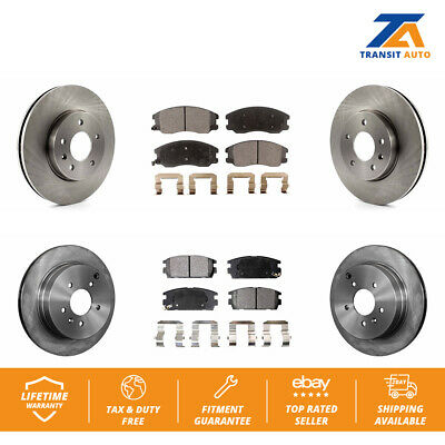 Max Brakes Rear Premium Brake Kit Fits: 2005 05 2006 06 Honda CR-V TA084142 OE Series Rotors + Metallic Pads