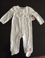 NWT Juicy Couture Baby Girl  Footie Pajama's 6-9 Months