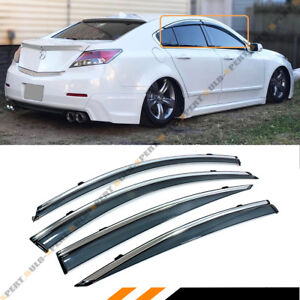 FOR ACURA TL CLIP ON SMOKE TINTED LUXURY SIDE WINDOW VISOR W - Acura tl window visors