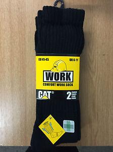 CAT-Caterpillar-2-or-3-Pk-Thermo-Work-Socks-6-11
