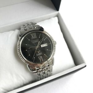 Citizen-Automatic-Watch-NH8270-56E-Black-Dial-Silver-Steel-Made-in-Japan