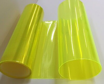 "12/"" x 12/"" Lime Yellow Headlight Taillight Fog Light PVC Tint Overlay Vinyl Film"