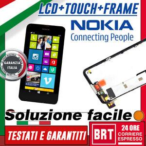 DISPLAY-LCD-TOUCH-SCREEN-FRAME-ORIGINALE-PER-NOKIA-LUMIA-630-635-SCHERMO-VETRO
