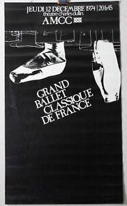 Affiche-Originale-1974-Grand-BALLET-Classique-de-France-Chambery