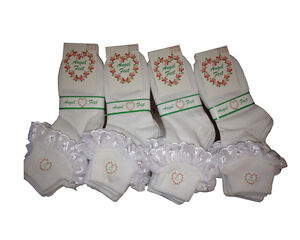 6-Pairs-Girls-Angel-Feet-Lace-Socks-Frilly-Frills-White-Cotton-Ankle-Baby