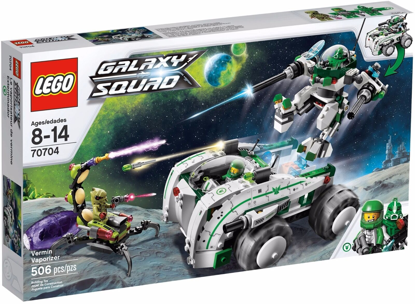 Lego Galaxy Vermin Vaporizer Retired Rarenew Squad 2013very