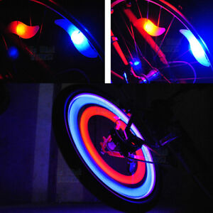 LED Bicycle Bike Cycling Wheel Spoke Wire Tyre Bright Flash Leaf Light Lamp
