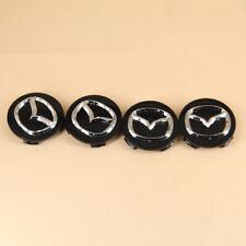 4x Wheel Rim Center Caps 56mm Set Of 4 Covers For Mazda Emblem Logo Badge Hub