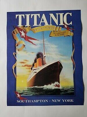 Rare Titanic Maiden Voyage 16x20 Ship Liner Poster ...