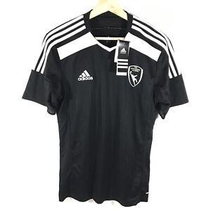 6f2fb9a3ac4 Image is loading Adidas-Climacool-USA-Goalkeeper-Academy-Soccer-Shirt-Black-
