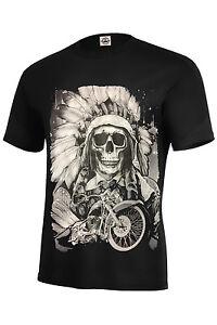 American Legend T Shirt Indien Moto Hugh Imprimer Couleurs