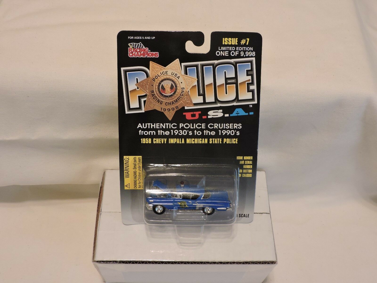 (9) RACING CHAMPIONS LIMITED EDITION POLICE AUTH.POLICE AUTH.POLICE AUTH.POLICE CRUISERS SERIEL NUMBERED 414c77