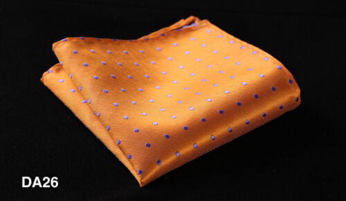 DA Polka Dot Mens Silk Pocket Square Hanky Wedding Party Handkerchief Fashion