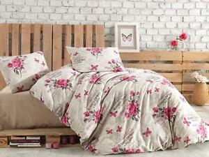 fein biber bettw sche 135x200 gr n blumen shabby landhaus 200x220 155x220 155x20 ebay. Black Bedroom Furniture Sets. Home Design Ideas