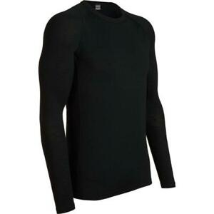 2cd960ed6ba Icebreaker Men's Everyday Long Sleeve Crewe Base Layer (Black) | eBay