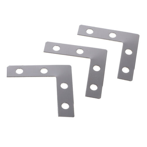 100x Metal L Shape Corner Brace Plate Flat Angle Bracket Picture Frame Brace