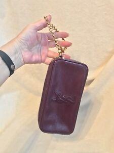 68a186b1434d Details about YSL Saint Laurent Purple Patent Leather Handbag MINI BAG  POUCH