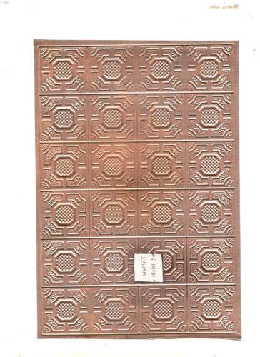 Blech Decken Gestempelt Kupfer 1/12 Maßstab Puppenhaus Miniatur 36000