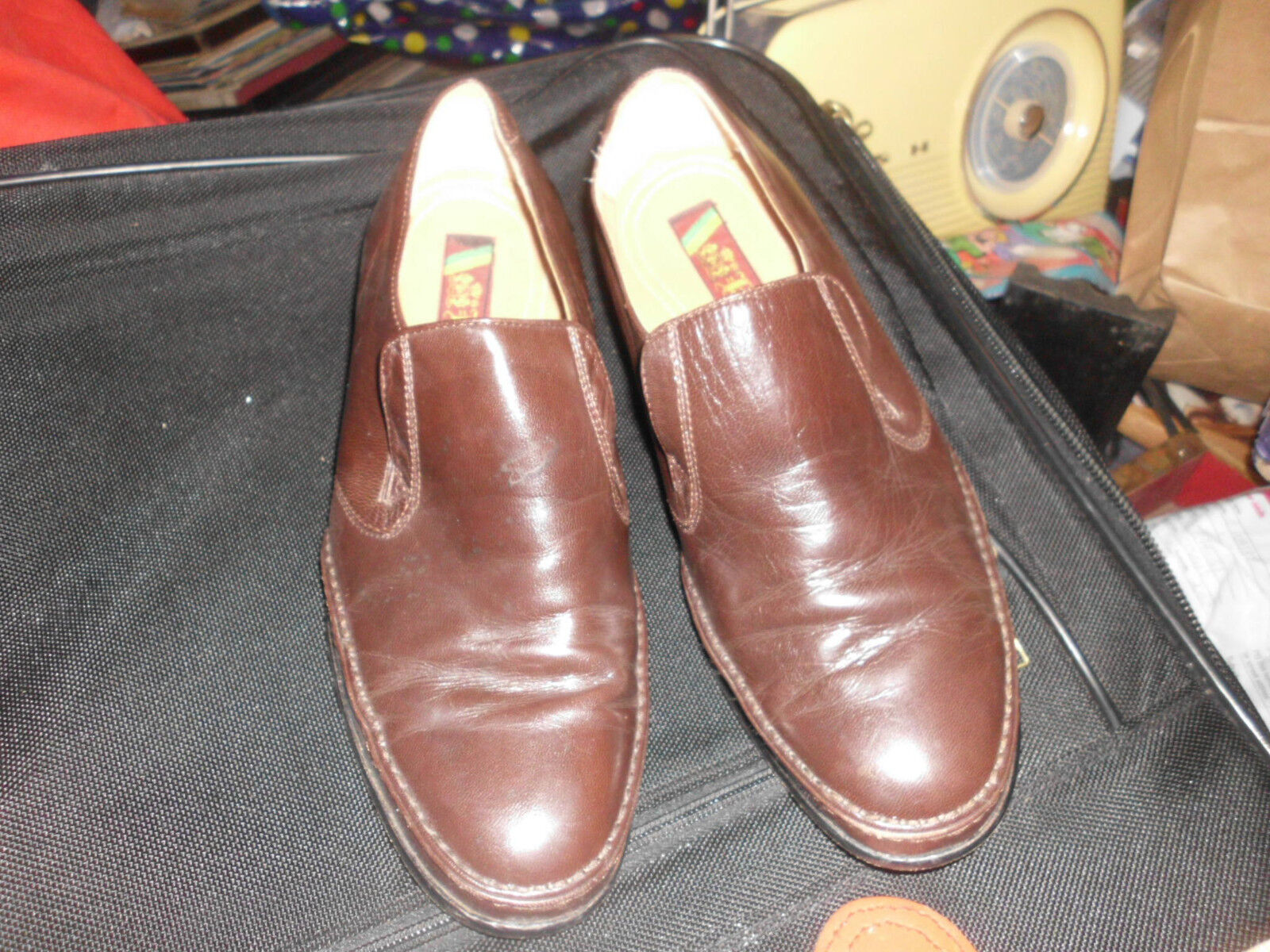 Mens Shoes KARANDONIS ALL LEATHER  LOAFERS SIZE 8EEE
