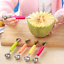 Double-End-Fruit-Melon-Cutter-Baller-Cream-Kitchen-Stainless-Steel-Scoop-Spoon thumbnail 2