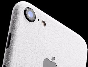 free shipping b0b19 64141 Details about iPhone 7 dbrand premium skin white leather TOP OF THE LINE  with apple cutout