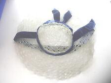 VINTAGE 1950S 60S RETRO  HAND MADE LADIES PLASTIC LACE EFFECT BONNET