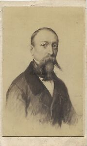 Horace Vernet Foto Di Dopo Disegno CDV Vintage Albumina Ca 1860