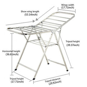 Stainless Steel Portable Clothes Drying Rack Indoor Folding Laundry