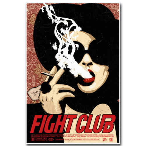 Fight Club Classic Movie Film Silk Poster Print 12x18 24x36 inch 007