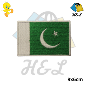 PAKISTAN National Flag Embroidered Patch Iron on Sew On Badge Logo For Clothes